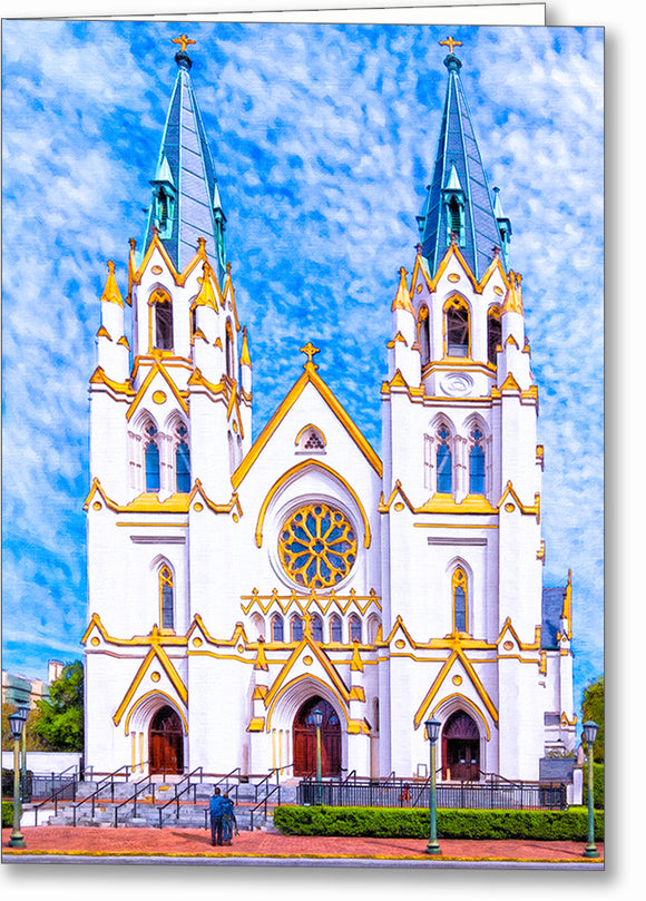 Cathedral of St. John the Baptist - Savannah Greeting Card