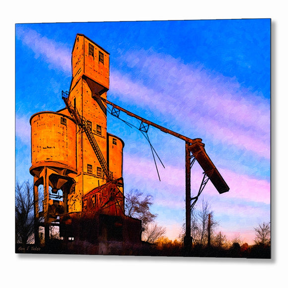 Central Of Georgia Coaling Tower - Macon Metal Print
