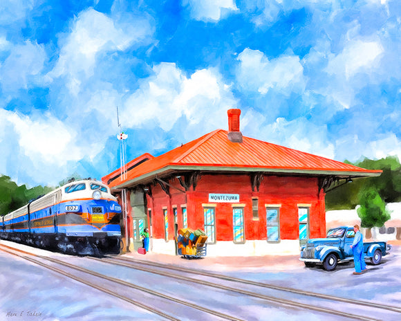 Central of Georgia Depot - Montezuma Georgia Art Print