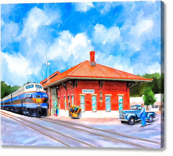 Central of Georgia Depot - Montezuma Georgia Canvas Print