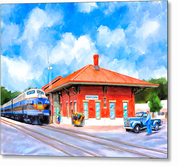 Central of Georgia Depot - Montezuma Georgia Metal Print