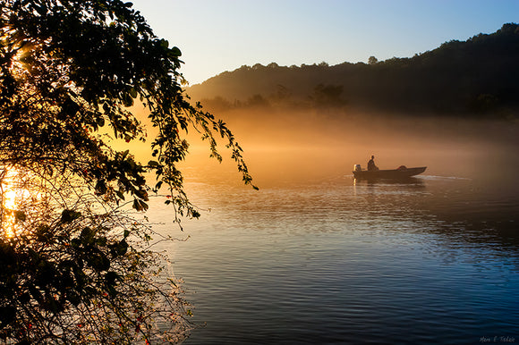 Chattahoochee Fishing At Sunrise - Georgia Art Print