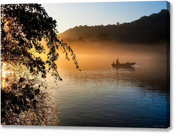 Chattahoochee Fishing At Sunrise - Georgia Canvas Print