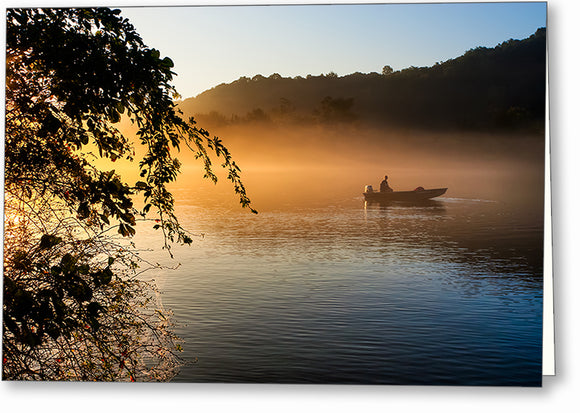 Chattahoochee Fishing At Sunrise - Georgia Greeting Card