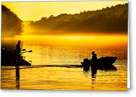 Chattahoochee River At Dawn - Roswell Georgia Greeting Card