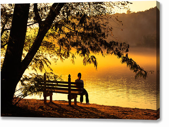 Chattahoochee Sunrise - Roswell Canvas Print