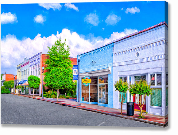 Cherry Street - Montezuma Georgia Canvas Print