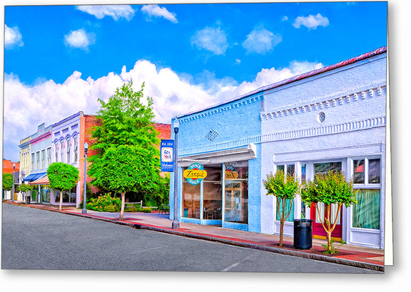 Cherry Street - Montezuma Georgia Greeting Card