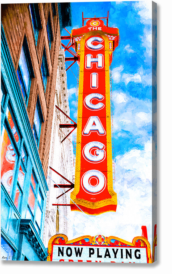 Chicago Theatre Sign - Historic Landmark Canvas Print