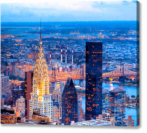 Chrysler Building At Night - New York City Skyline Canvas Print