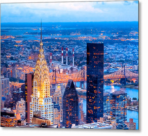 Chrysler Building At Night - New York City Skyline Metal Print