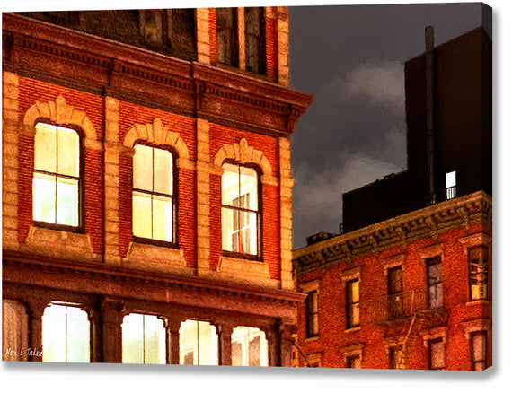 City Lights - New York City Architecture Canvas Print