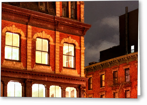 City Lights - New York City Architecture Greeting Card