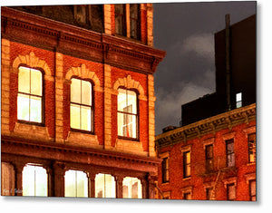 City Lights - New York City Architecture Metal Print