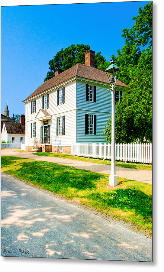 Classic Colonial Home - Williamsburg Metal Print