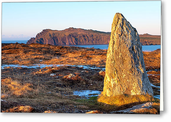 Clogher Head Megalith - Dingle Ireland Greeting Card