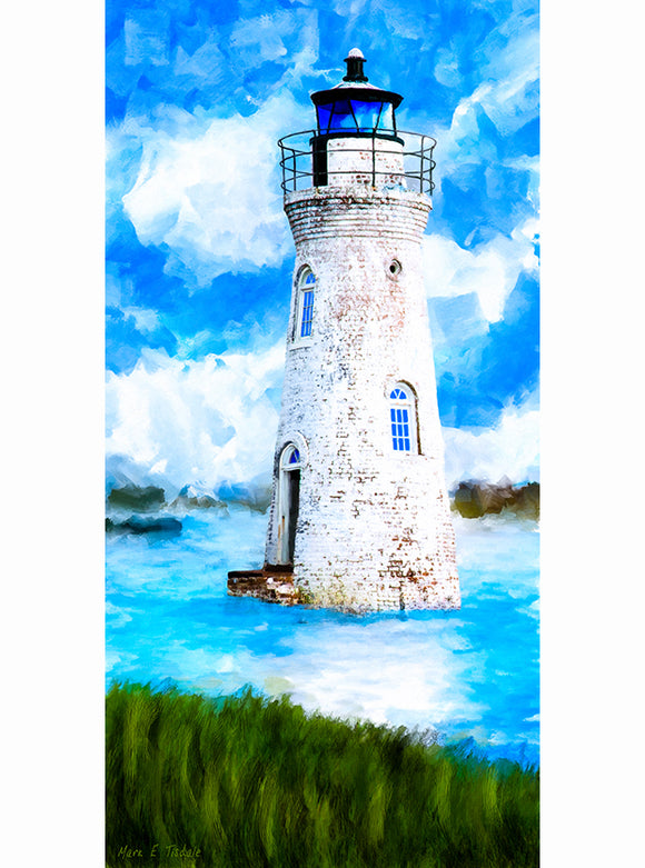 Cockspur Island Lighthouse - Georgia Coast Art Print