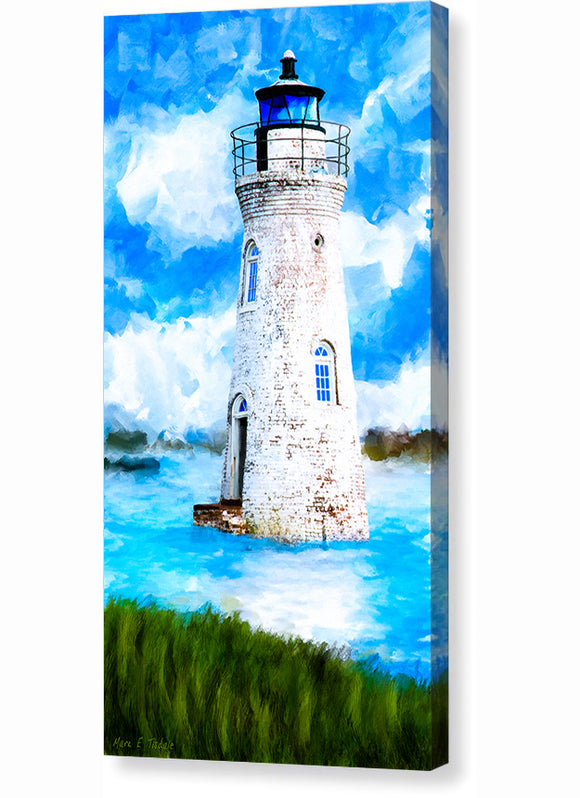 Cockspur Island Lighthouse - Georgia Coast Canvas Print