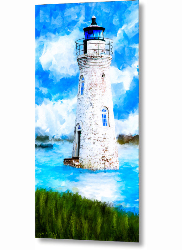 Cockspur Island Lighthouse - Georgia Coast Metal Print