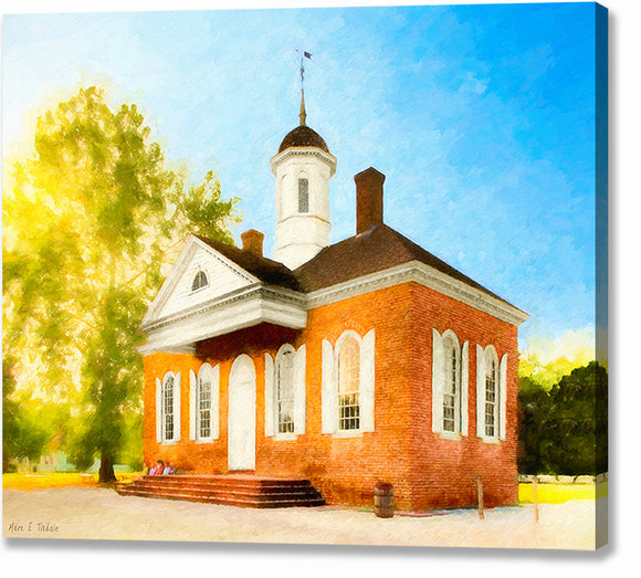 Colonial Courthouse - Williamsburg Virginia Canvas Print