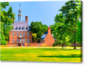 Colonial Governor's Palace - Williamsburg Canvas Print