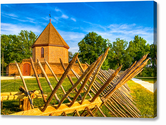 Colonial Gunpowder Magazine - Williamsburg Canvas Print