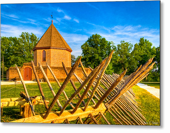 Colonial Gunpowder Magazine - Williamsburg Metal Print