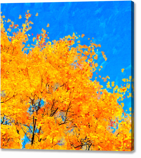 Colorful Abstract - Fall Leaves Canvas Print