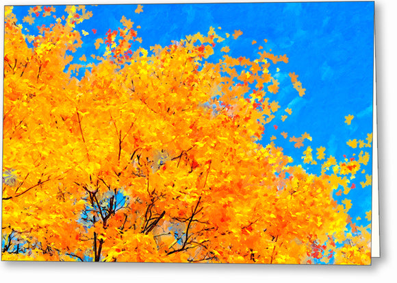 Colorful Abstract - Fall Leaves Greeting Card