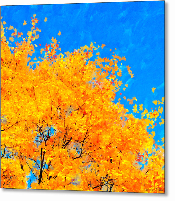 Colorful Abstract - Fall Leaves Metal Print