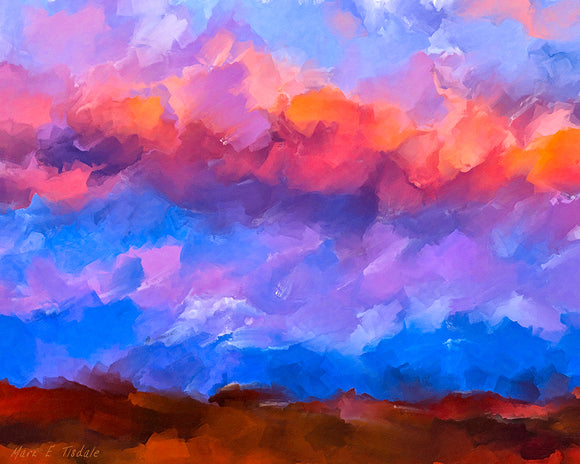 Colorful Abstract Sky - Sunset Art Print