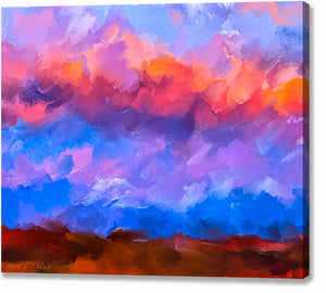 Colorful Abstract Sky - Sunset Canvas Print