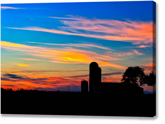 Colorful Farm Scene - Georgia Sunset Canvas Print