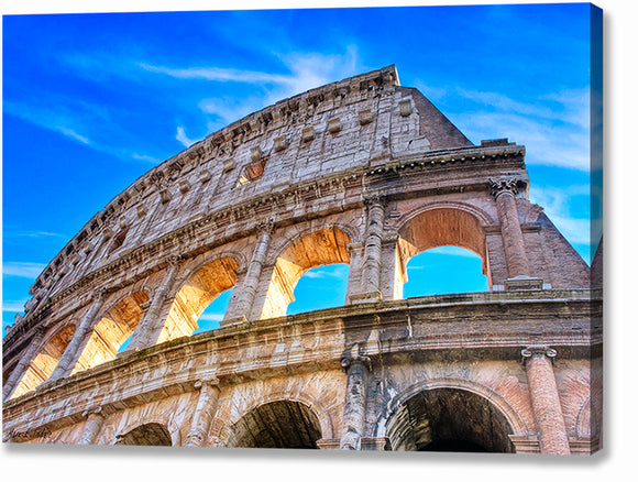 Colosseum Ruins - Rome Canvas Print
