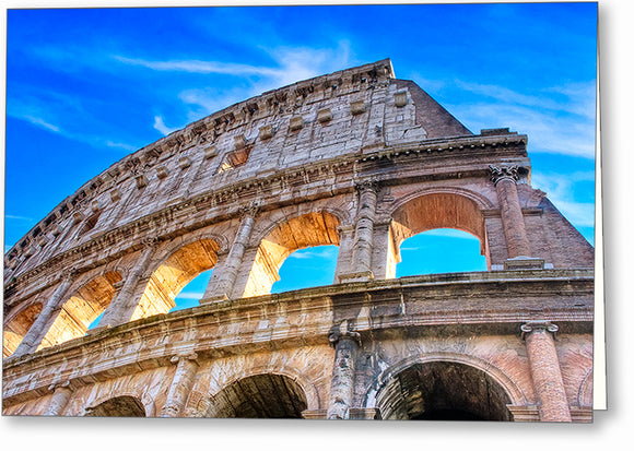 Colosseum Ruins - Rome Greeting Card