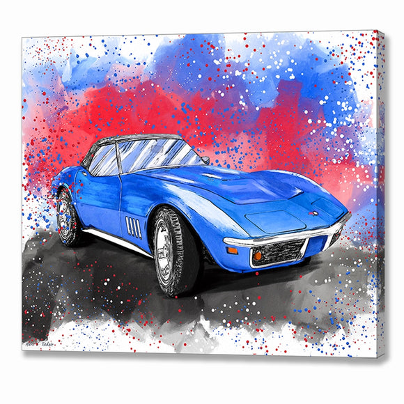 Corvette Stingray C3 - Classic Car Canvas Print