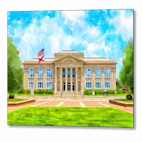 Covington County Courthouse - Andalusia Alabama - Metal Print