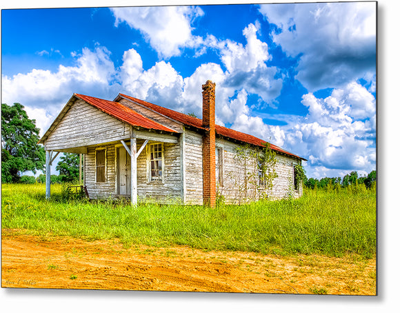 Crossroads Store - Scenic Country Metal Print