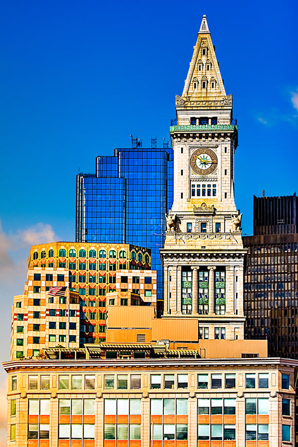 Custom House Clock Tower - Boston Art Print