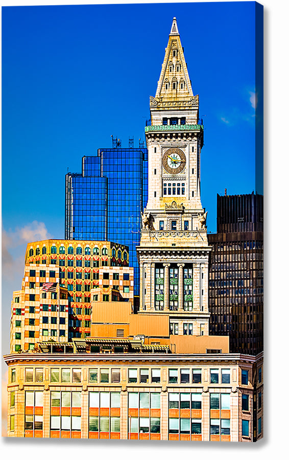 Custom House Clock Tower - Boston Canvas Print