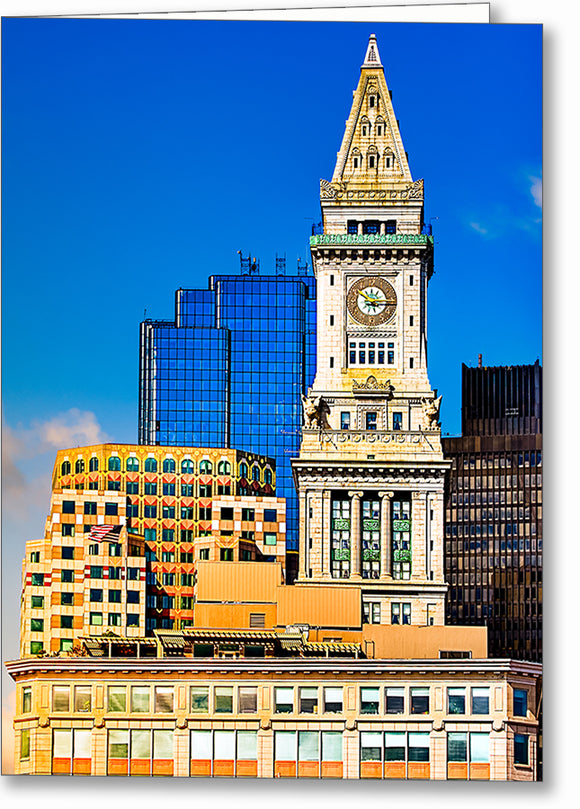 Custom House Clock Tower - Boston Greeting Card