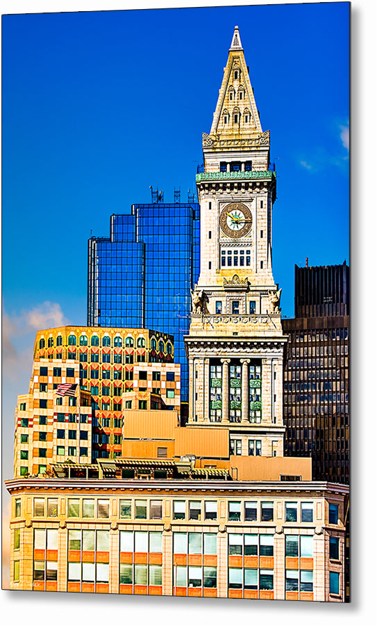 Custom House Clock Tower - Boston Metal Print