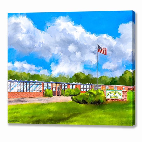 D.F. Douglass High School - Montezuma Georgia Canvas Print