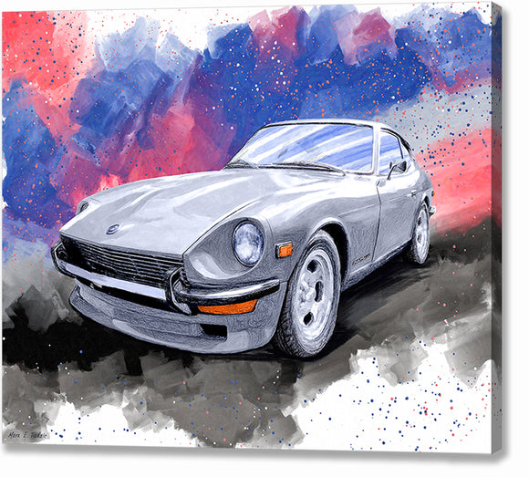 Datsun 240Z - Classic Car Canvas Print