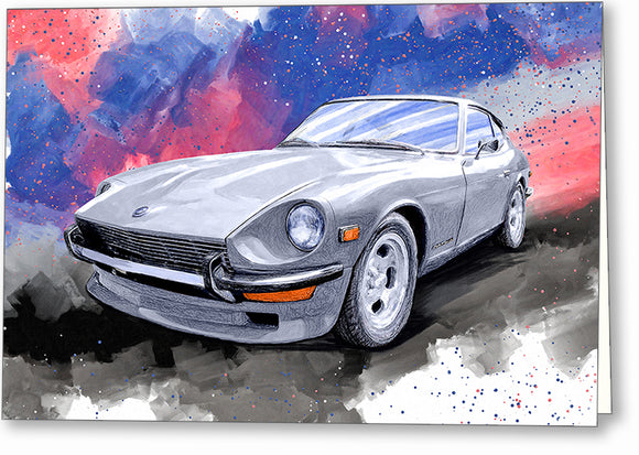 Datsun 240Z - Classic Car Greeting Card