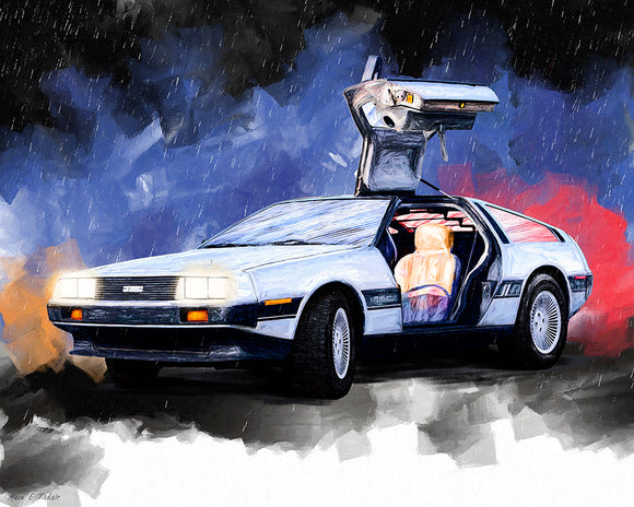 DeLorean DMC-12 - Classic Car Art Print