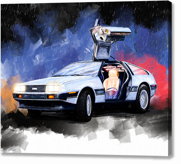 DeLorean DMC-12 - Classic Car Canvas Print
