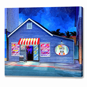 Doc's Bar - Tybee Island Canvas Print