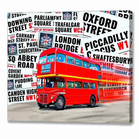 Double Decker Bus - London Canvas Print