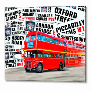 Double Decker Bus - London Metal Print